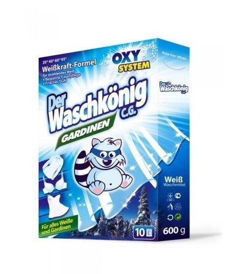 Proszek do prania firan i białej bielizny Der Waschkönig C.G. Gardinen 600 g - 10 WL